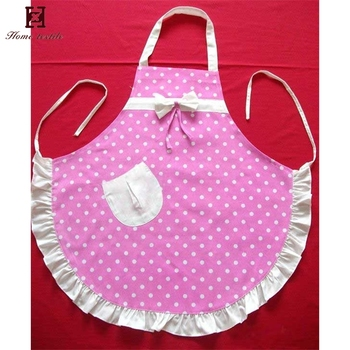 f959921e619 Customized design pink cooking apron polyester kitchen girl pretty sexy children  aprons