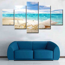 High quality outdoor landscapes oil painting on canvas 5 panel seascape scenery home decor wall art digital canvas print paintin