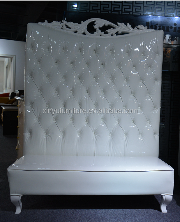 High back white event love seat XYN1211