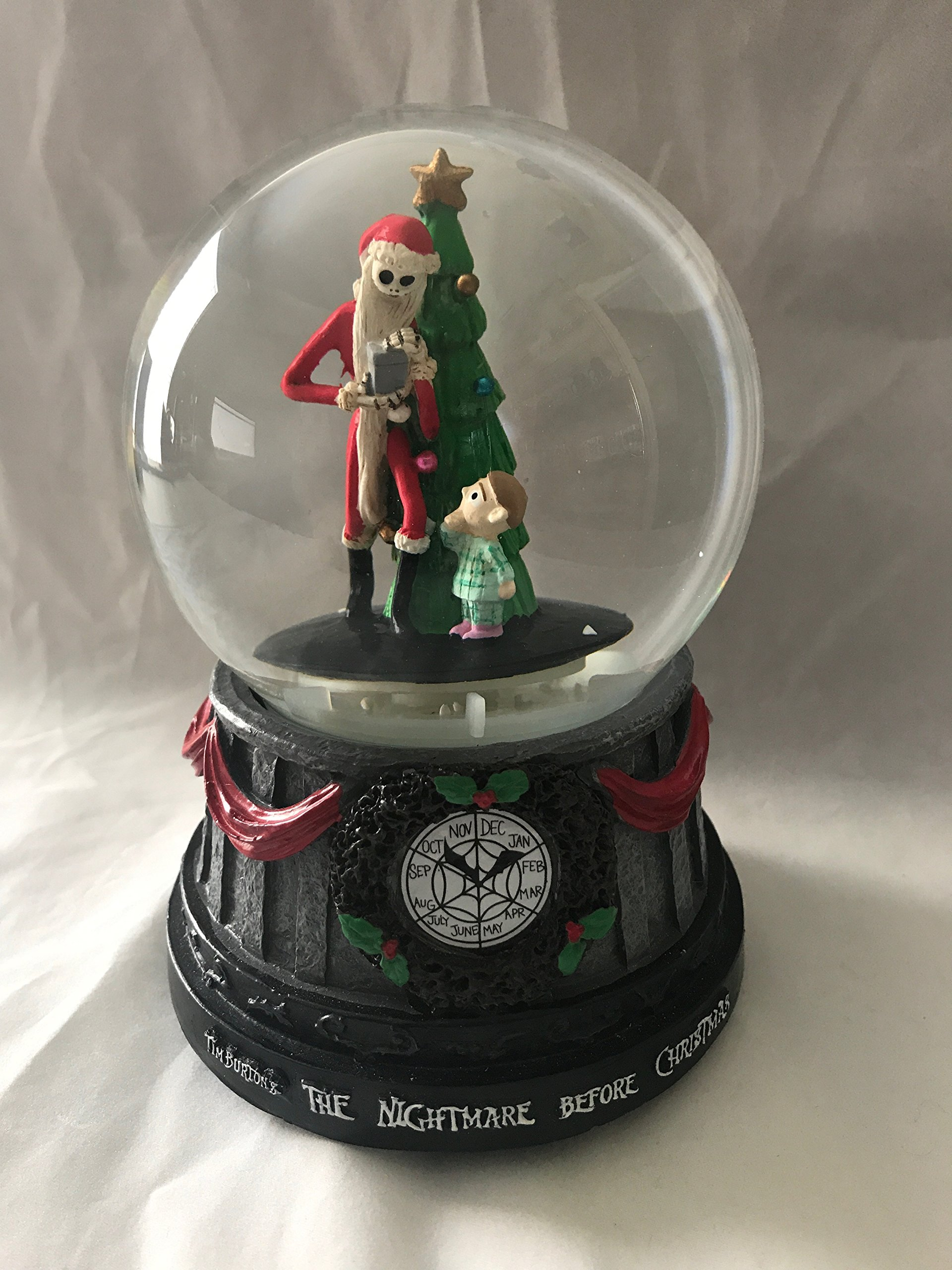 get quotations the nightmare before christmas jack skellington christmas tree musical snomotion waterglobe - Jack Skellington Christmas Decorations