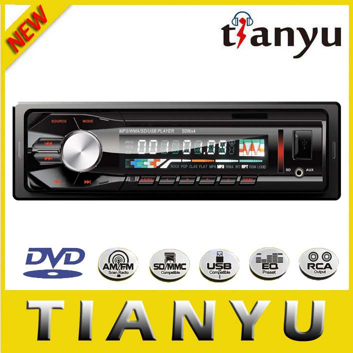 fashion 1 din car dvd player with ISO connector