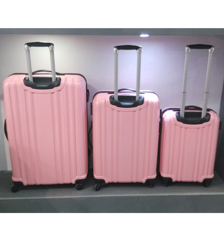 High Quality Pink Cute Polycarbonate Pc 4 Wheels Cheap Suitcases ...