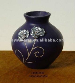 barato de madera jarrones decorativos - Jarrones Decorativos