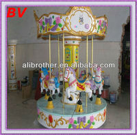 decoration for inner garden mini carousel kiddy games coin operated