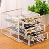 Acrylic 3 Drawers 4 Drawers Cosmetic Jewelry Drawer Box Storage Case Acrylic Makeup Organizer
