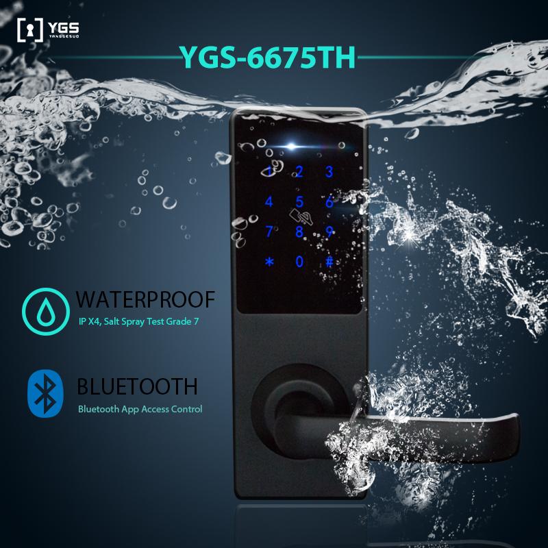 YGS ราคาถูกรหัสผ่าน Security Keyless สมาร์ทกันน้ำโมเดิร์น OEM korea ประตูดิจิตอลล็อค