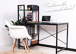 Merax PC Table Computer desk Home Office Furniture Study Workstation Table Laptop Table Desk (Black)