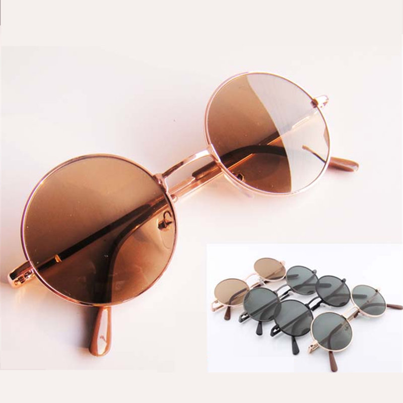 2564731764 Get Quotations · 2015 Hot Fashion Round Brown Black Female Male Sunglasses  Gold Multi Vintage Circle Sun Glasses For