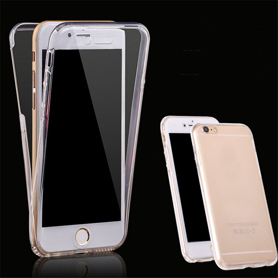 360 Full Body Protective Soft Clear TPU Case Cover For Iphone 5S 6 7 Plus Robber Silicone Shell Coque For Iphone SE 5 5S Cases