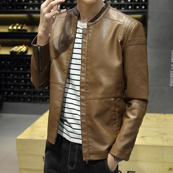 High quality cotton lining quilting fashion custom design vintage man leather jacket,man jacket sale