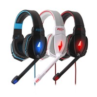 Colorful plastic good sound stereo gaming headset with microphone