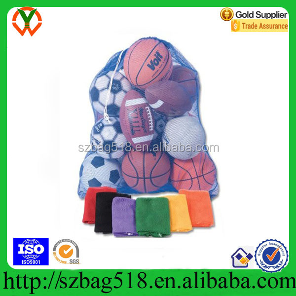 Heavy Duty Mesh Equipment Bag Net Drawstring Bag for Soccer Ball