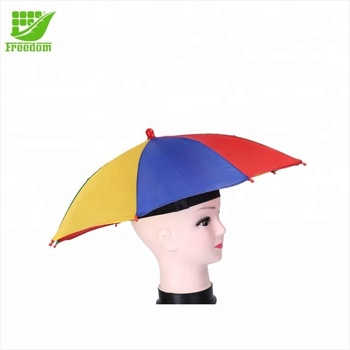 Promotional Brazil Flag Umbrella Cap