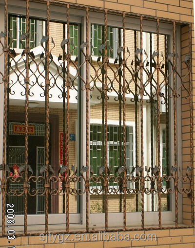 India wrought iron window grille/iron window bar for factory direct sale