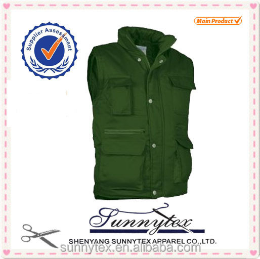 SUNNYTEX Winter Colorful Cotton Work Vests