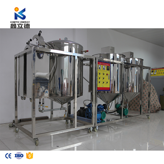 Mini oil refinery vegetable oil refinery equipment small scale palm oil refining machinery for sale