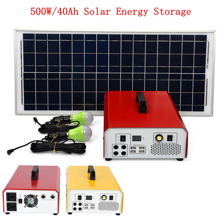 2018 Wholesale 500w Solar Inverter Portable Solar Power Generator for Home Use