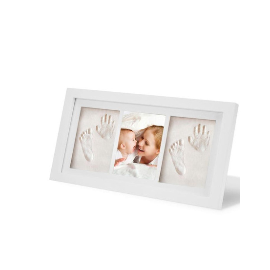 New Baby Boy Girl Gift Inkless Hand and Footprints Kit Frame Impression Prints