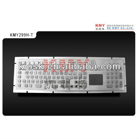 IP65 stainless steel keyboard with touchpad pointer for industrial PCs and Embedded system