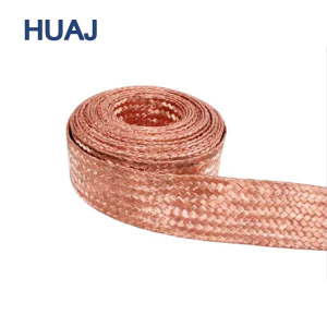 Custom Large Size Flat Copper Conductor Bare Tinned Flexible Braided Wire