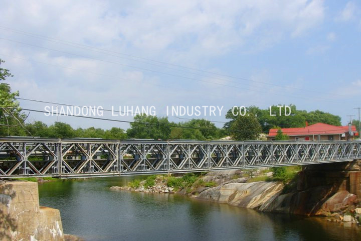 Small Portable Bridges : Temporary steel floating bailey bridge for industrial