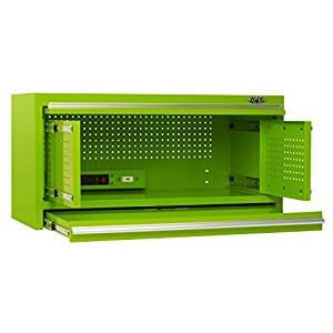 Viper Tool Storage V4102HLG 41 Inch 2 Drawer Hutch, Lime