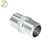 Hydraulic Fitting Manufacturer Nipple Water Tap Adapter Tube CNC Machining Threaded Fitting