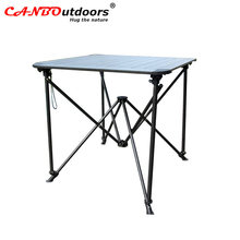 Wholesale portable space saving Easy to Assembled Pop Up picnic aluminum folding table