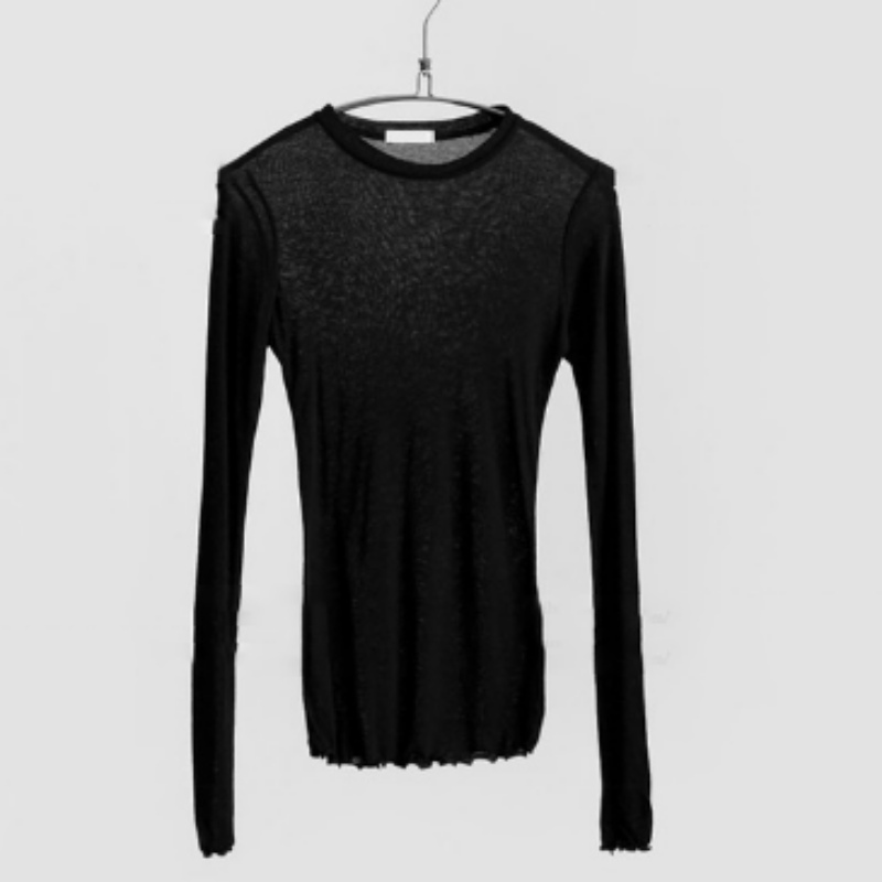 868287553153 2018 Summer Autumn Slim T shirt Women Basic Bottoming T-Shirt Ladies Thin  Long Sleeve O-neck T-shirts z1