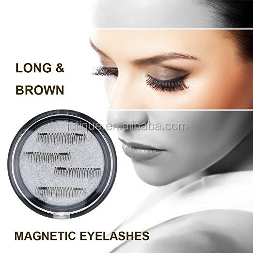 Longer False Magnetic Eyelashes -Cover the entire eyelids ,Cruelty Free, Dual Magnets, No Glue, Magic 3D Fake Lashes Extension