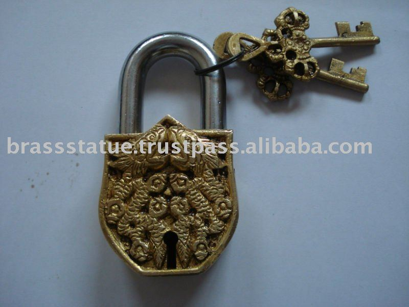 Fish Figure Brass Pad Lock
