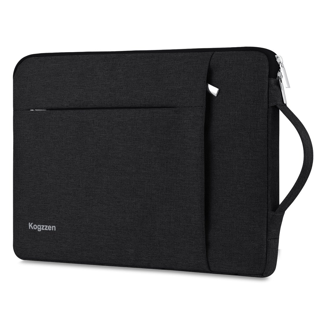 Kogzzen 13-13.5 Inch Laptop Sleeve with Handle for MacBook Air 13.3/MacBook Pro 13.3/Surface Book 2 13.5/Surface Laptop 2017/iPad Pro 12.9, Dell HP Waterproof Shockproof Case carrying Bag - Black