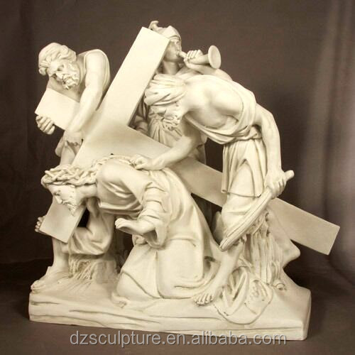 Western fairy story jesus christ cross statue for sale