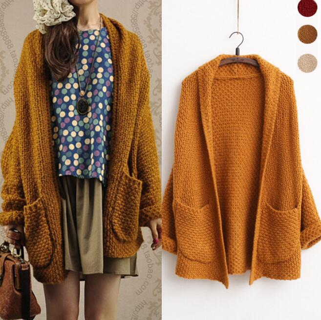 Wolesale Medium Length Wool Knitted Cardigan For Women Open ...