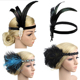 1920s Flapper Girl Party Headband Carnival Indian Feather Headpiece