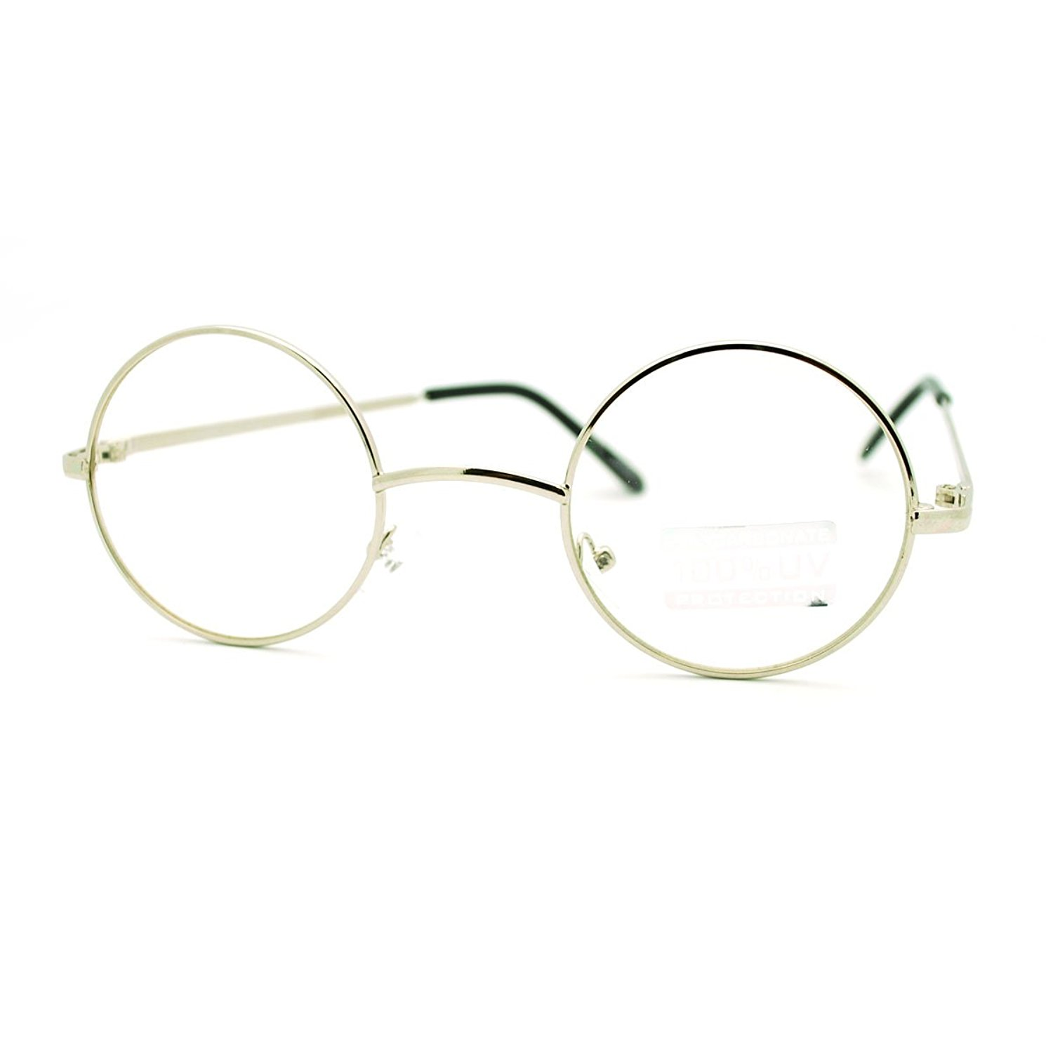 755a866b562e Get Quotations · Round Circle Clear Lens Eyeglasses Small Size Thin Frame  Unisex Glasses