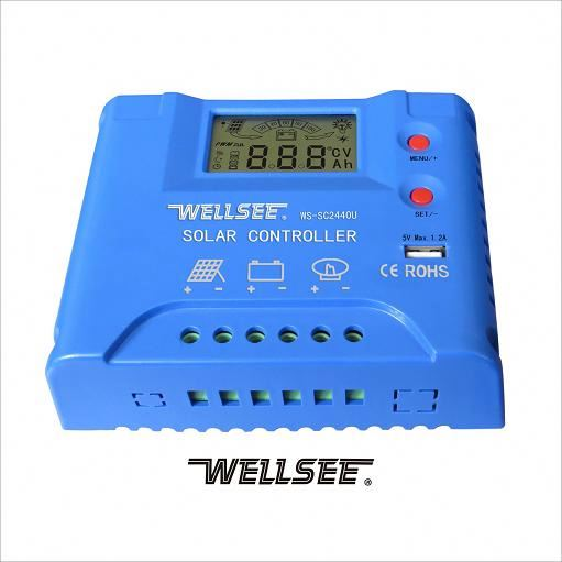 12V 24V 30A pwn solar charge controller WS-SC2440U wellsee new product solar energy charge and discharge controller