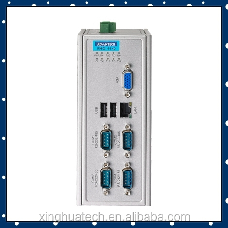 Advantech Embedded Fanless industri panel pc UNO-1140-V10E 86SX-grade SoC DIN-rail PCs with 1 x LAN, 4 x COM
