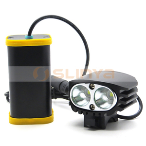 T6 LED 4400 mAh Front Light 2000LM Bike Helmet Light