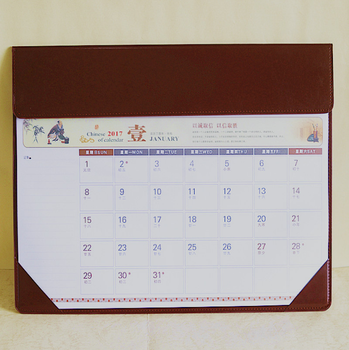 Bulk pu leather for office table desk pad calendar