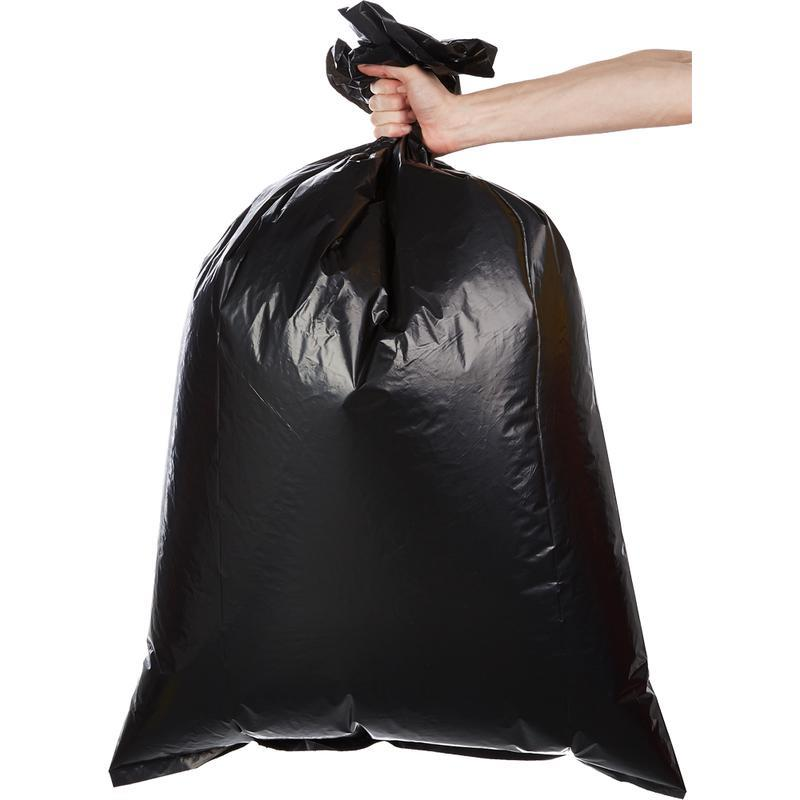 Big size rubbish bags black plastic  garbage bags in big volume