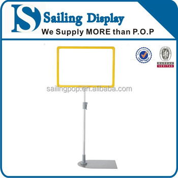Retail Display Poster Stand With Plastic A4 Frame Sign Holder - Buy ...