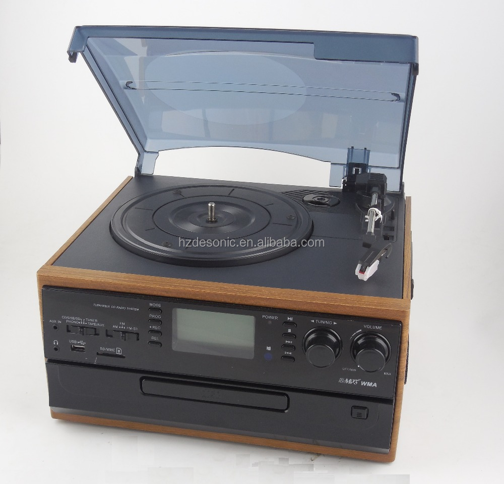 Antique wooden AM/FM/FM stereo radio gramophone player for sale 2016