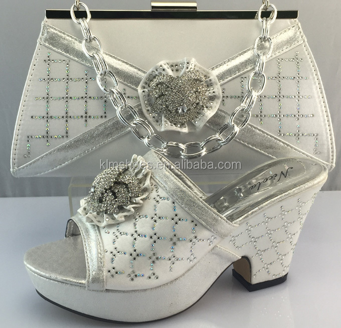 Shoes To Stones With In Wedding And Italian Set Silver Quality Shipping Bags Match With Bag Shoes Matching Party Free High zaxOw