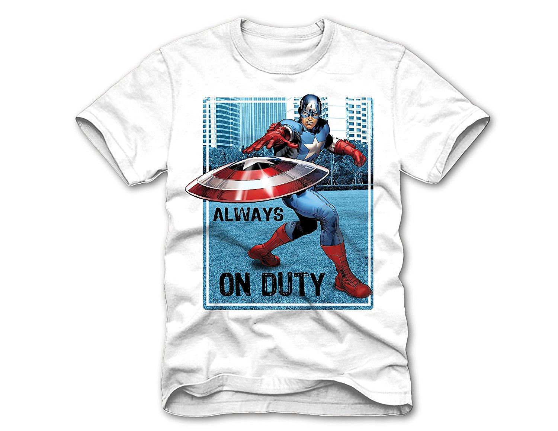 e808850221a Get Quotations · Superhero Marvel T- Shirts for Boys