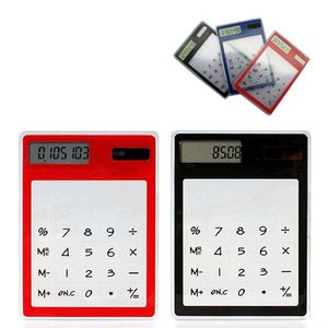 OEM Factory Solar Colorful Transparent Calculator Mini Card Caculator