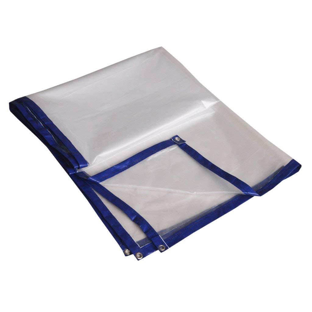 COZY HOME AAA Transparent tarpaulin, polyethylene environmental protection, tasteless, double-sided waterproof sunscreen Outdoor warehouse car garden cover, tarpaulin tent Size: 2m4m