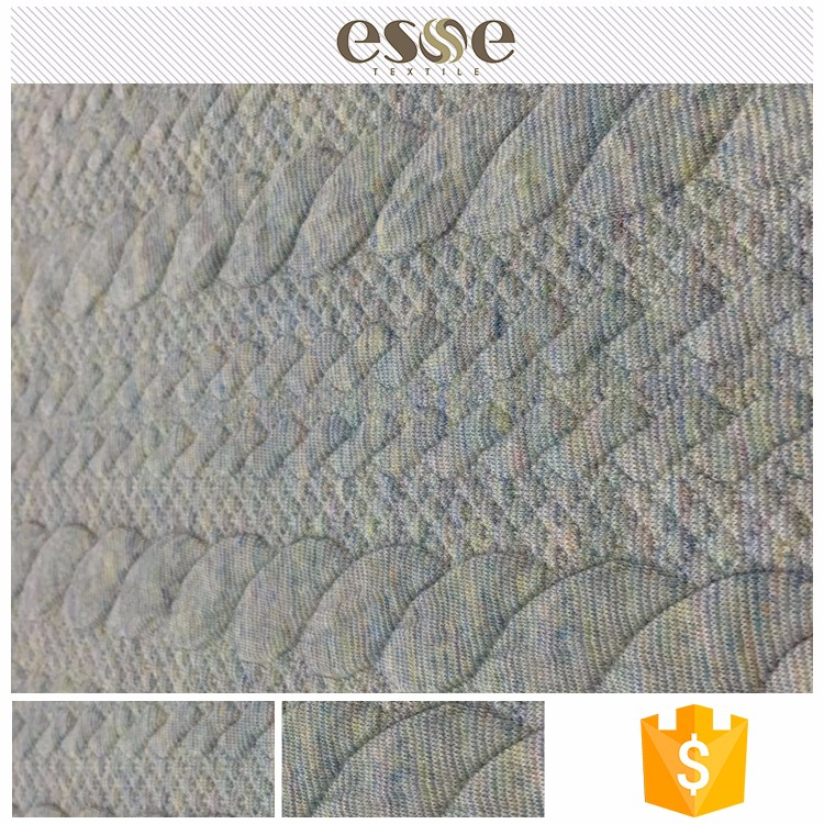 Esse new design jacquard rayon polyester thick knit fabric
