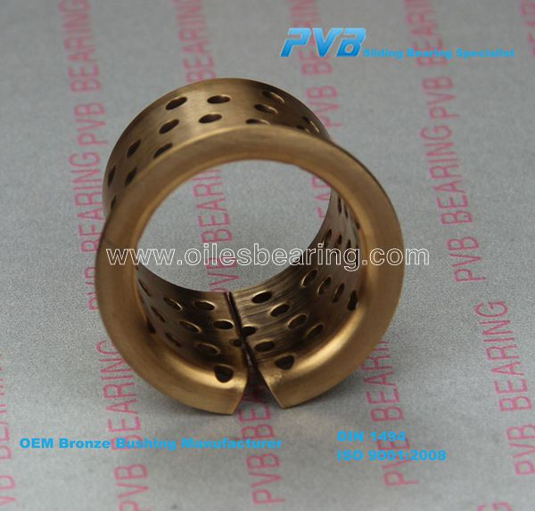WF-WB802 flange bronze <strong>bearing</strong>,CuSn6 split roller bush, wrapped copper alloy bushing