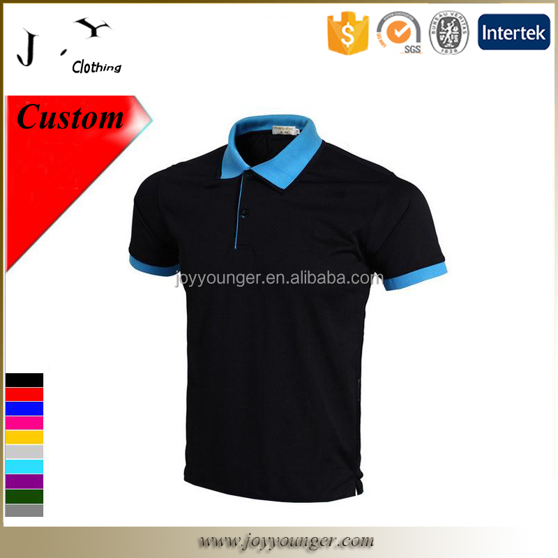 Short sleeve men's blank multi-colored Polo t-shirt